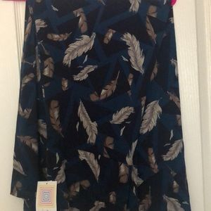 LuLaRoe Maxi - Teal with Feathers
